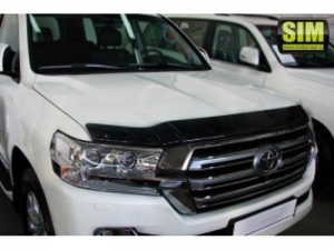Дефлектор капота Toyota land cruiser 200 темный STOLCR1512 SIM